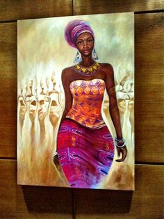 African Art gallery for African Culture artwork, abstract art, contemporary art daily, fine art, paintings for sale and modern art African Artwork, African Paintings, Afrique Art, Natural Hair Art, Black Artwork, Afro Art, African American Art, African Women, Black Women Art