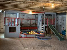 We love our basement playground! It's been such a life savor during the winter months when our kids energy level is through the roof!
