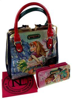 Nicole Lee Handbag Wallet Set Tulip Ping Tul10672 Frame Purse Bling