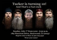 Duck Dynasty Birthday Party Invitation - Digital File on Etsy, $8.99