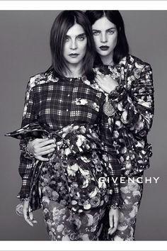 Givenchy Autumn/Winter 2013 // Photographer: ? // Models: Carine Roitfeld & Julia Restoin