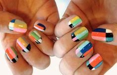 Diseños de uñas Shellac pintadas, diseños de uñas con shellac.   #diseñodeuñas #instanails #uñasdeboda