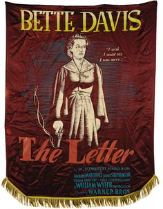 An advertising banner for The Letter (1940).