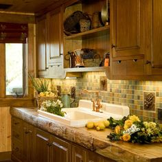 Wood Slab Countertop Design, Pictures, Remodel, Decor and Ideas