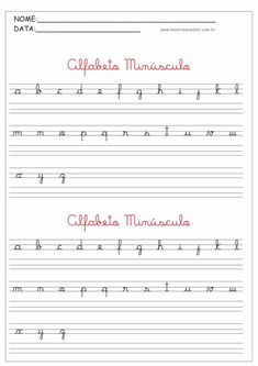 Cursive Alphabet, Cursive Handwriting, Handwriting Practice, Spanish Lessons For Kids, French Language Lessons, Teaching Cursive Writing, Kindergarten Reading Activities, Lettering Tutorial, Vocabulary Words