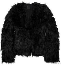 ShopStyle: Anna Sui Cropped faux fur coat