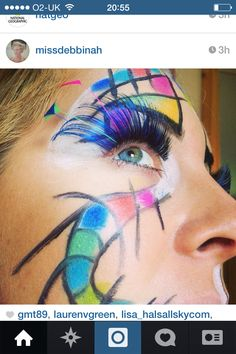 Kandinsky inspired make up by me
