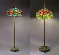 Lampen Stehlampen Bronze Fuss Jugendstil Beleuchtung