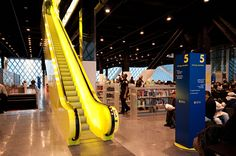Coolest escalator Seattle downtown library - Google Search