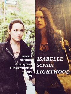 Isabelle Lightwood, my favorite character from the mortal instrument series