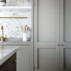 brass + marble + stainless steel
