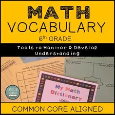 Grade My Math Dictionary & Teacher Tools Common Core Aligned Love Teacher, Math Teacher, Teaching Math, Classroom Word Wall, Teacher Checklist, Math Vocabulary, Secondary Math, 8th Grade Math, Middle School Teachers