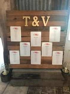 Seating chart pallet   Wedding   Gumtree Australia Nambucca Area - Macksville   1145366025 Reception Ideas, Wedding Reception, Pallet Wedding, Rooftop Wedding, Seating Charts, Van, How To Plan, Weddings, Mariage