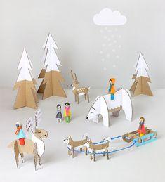 Kids will love making their own winter wonderland with this craft idea.