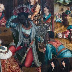 Master of the Aachener Altarpiece  Die Anbetung der Heiligen Drei Könige (Adoration of the Magi)  Germany (c. 1510)  Gemäldegalerie, Staatliche Museen, Berlin.