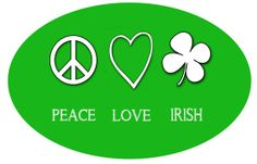Peace Love Irish oval printable St. Patrick's day by WORDSYOURWAY, $0.99