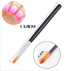 Round Head Black Rod Dizzy Dye Pen Manicure Gradient Shading Brush Shaking Powder Nail Art Tool