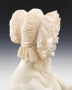 cotton headdress 1830-1840s