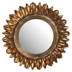 Wall mirror with a floral frame.  Product: Wall mirrorConstruction Material: Resin and mirrored glassColo...