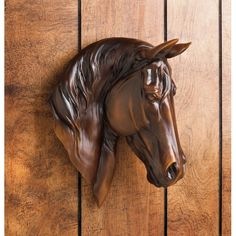 Chestnut Horse Bust Wall Plaque 10017024 Add a dash of equine spirit to your home with this gorgeous chestnut-brown wall-mounted horse bust