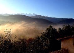 Los Picos de Europa desde San Martín de Grazanes. Preciosas vistas.