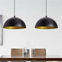 vidaXL - Hanglamp - (zwart, set van twee)