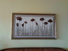 quadro realizzato da Giuseppina Monni.                              riciclando foglie del suo giardino.