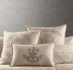 French Linen Pillow Covers. Restoration Hardware