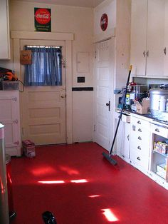 1000 images about lino in the kitchen on pinterest retro kitchens floors and grey vinyl - Retro flooring kitchen ...