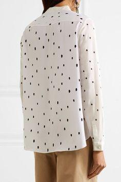 3.1 Phillip Lim - Snowbird Printed Silk Crepe De Chine Shirt - Off-white