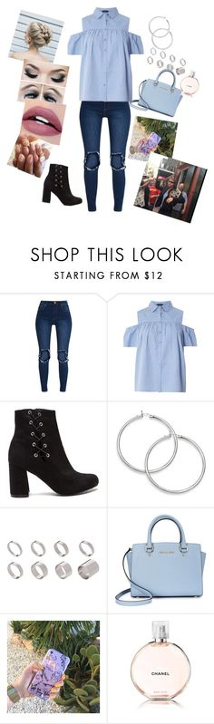 """Blue day"" by annaconley ❤ liked on Polyvore featuring Dorothy Perkins, ASOS, Michael Kors, Chanel and WWE"