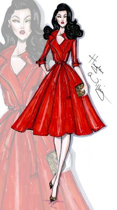 #Hayden Williams Fashion Illustrations #'Rouge Appeal' by Hayden Williams
