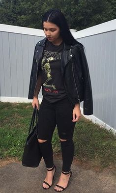 Leather jacket outfit @KortenStEiN