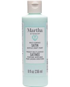 Martha Stewart Family Friendly Multi-Surface Satin Acrylic Craft Paint, 8 Oz in Kiddie Pool Outdoor Paint, Indoor Outdoor, Acrylic Craft Paint, Martha Stewart Crafts, Kiddie Pool, Paint Drying, All Craft, Kids Learning, Creative Art