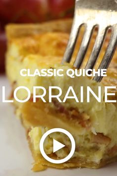 Classic Quiche Lorraine by The Cookie Rookie. This easy recipe is perfect brunch. - Classic Quiche Lorraine by The Cookie Rookie. This easy recipe is perfect brunch food, best served - Quiche Recipes, Brunch Recipes, Gourmet Recipes, Cooking Recipes, Brunch Foods, Potato Recipes, Healthy Cooking, Healthy Sweet Snacks, Nutritious Snacks