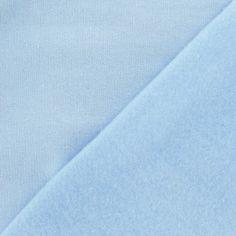 Tissu sweat bleu clair x 10cm - 16.70 €/m