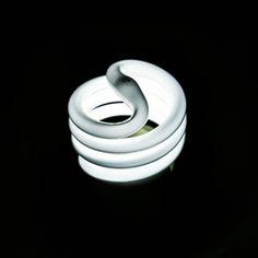 Snake ___ #photography #photo #light #lightbulb #neon #white #spiral #space #contrast