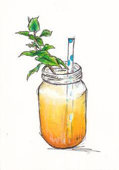 Sweet mango and mint drink...   http://traceyfletcherking.blogspot.com.au/