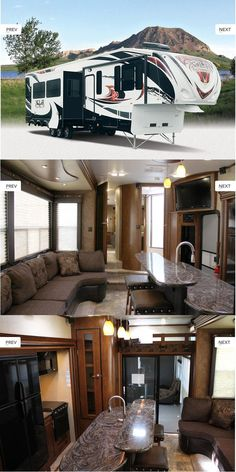 XLR Thunderbolt Fifth Wheel - 395AMP D and I have always joked about family vacations in a 5th wheel! This one is purty nice!
