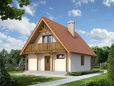 Jaśmin dr-S projekt domu - Jesteśmy AUTOREM - DOMY w Stylu Modern Barn House, Farmhouse, Cabin, House Styles, Home Fashion, Houses, Home Decor, Homes, Homemade Home Decor