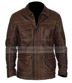 Men's Leather Jackets: How To Choose The One For You. A leather coat is a must for each guy's closet and is likewise an excellent method to express his individual design. Leather jackets never head out of styl Jacket Style, Shirt Style, Mens Designer Leather Jackets, Leather Men, Brown Leather, Rain Suit, Brown Jacket, Sports Jacket, Cb550