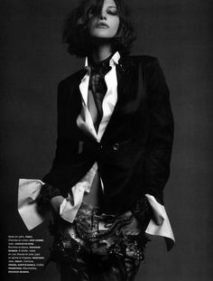 "fashion-on-my-platter: "" girls meet boys: catherine mcneil by jean-baptiste mondino for numéro october 2012 "" Catherine Mcneil, Look Rock, Look Fashion, Fashion News, Fashion Beauty, Womens Fashion, Fashion Trends, Black White Fashion, Black And White"