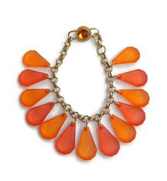 Vibrant Orange Ombre Bracelet, Handmade Dangle Bracelet,  Accessory,  Affordable Jewelry, Gift, Women, OOAK, Bold, Teens, Unique, Gold by JensJemsWV on Etsy https://www.etsy.com/listing/208061685/vibrant-orange-ombre-bracelet-handmade