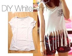 DIY Clothes: DIY T-Shirt Refashion: Recycle Your old T-Shirt!
