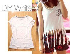 DIY Clothes DIY Refashion DIY Refashion a white shirt