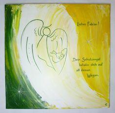 Taufbild mit Schutzengel und Spruch © by Sigrid Kiesenhofer