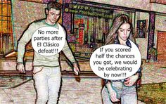 Cristiano Ronaldo Issues Party Ban after El Clásico Defeat #Ronaldo #Georgina #Zidane #Ramos #Bale #Messi #ElClasico #RealMadrid #Barcelona #HalaMadrid #FCBLive #ForçaBarça #LaLiga #CR7 #CL #Suarez #Neymar #Madrid #Barça #FCBarcelona #Jokes #Comic #Laughter #Laugh #Football #FootballDroll #Funny