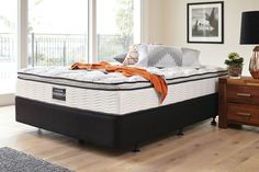 Pioneer Plush King Bed by Sleepmaker