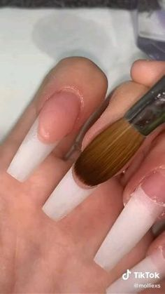 Acrylic Nails At Home, Acrylic Nail Tips, Acrylic Nails Coffin Short, Cute Acrylic Nail Designs, Clear Acrylic Nails, Acrylic Nail Powder, Diy Nails, Swag Nails, Acylic Nails