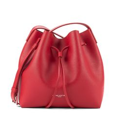 Red Pur bucket bag, Lancaster Paris. #red #bucketbag #bag #pur #lancasterparis #lancaster